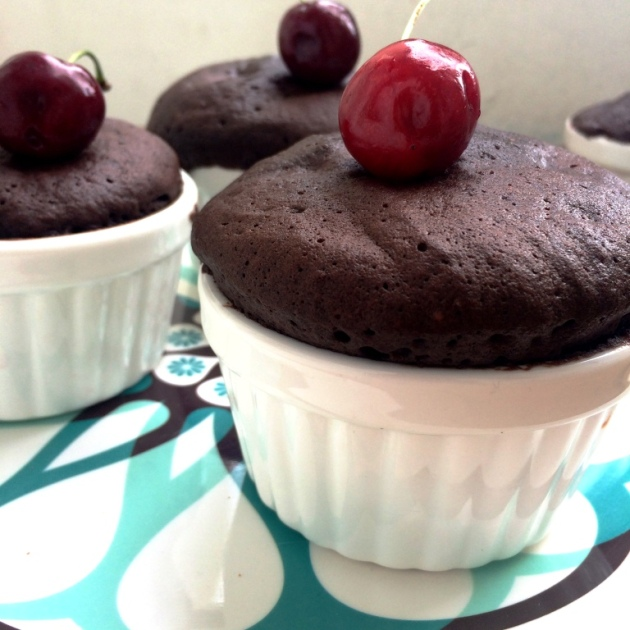 Chocolate Cherry Mug Cake