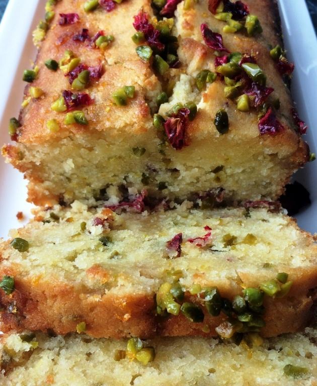 Pistazien Rosen Zitronensirup Kuchen Mit Honig Creme Fraiche Cakes